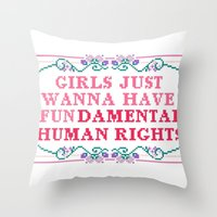 equality Throw Pillows featuring EQUALITY by Hoeroine