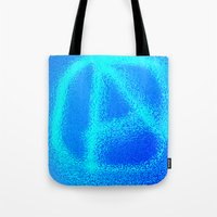 anarchy Tote Bags featuring anarchy by XiXi