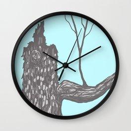 Nut Tree Illustration Wall Clock