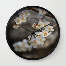 Korean Plum Blossoms Wall Clock