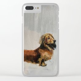 Proud dachshund Clear iPhone Case