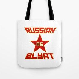 Russian as Blyat Tote Bag