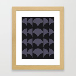 Cleo Pattern - Midnight Framed Art Print