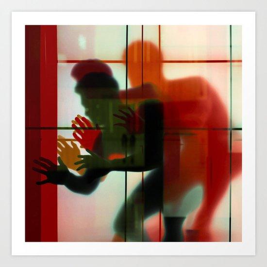 Body Language 3 Art Print