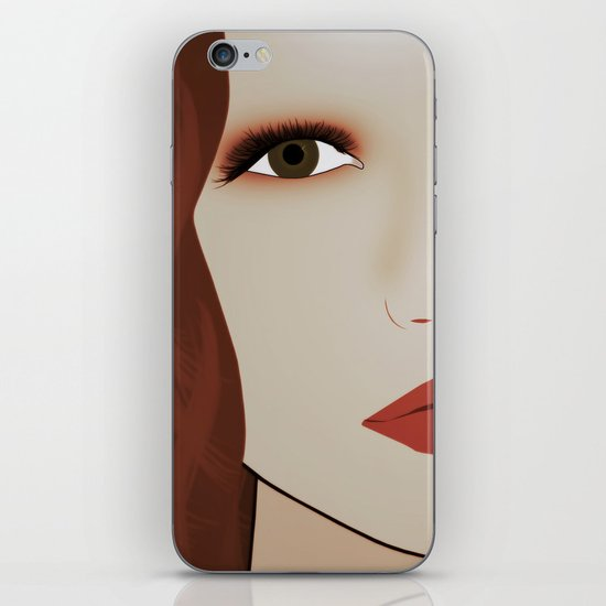 Red Head from Another Dream iPhone & iPod Skin