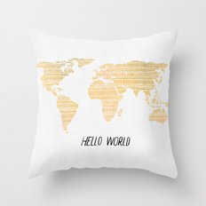 Hello World Throw Pillow