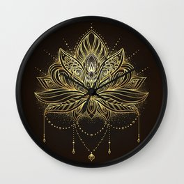 Ornamental Lotus flower Wall Clock