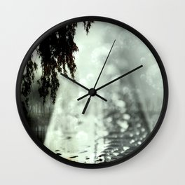 Dreamer on the Slippery Slope Wall Clock