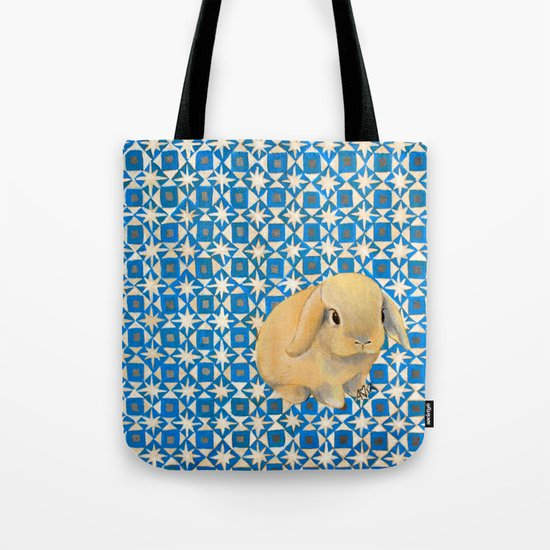Charlie the Rabbit Tote Bag