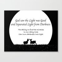 scripture Canvas Prints featuring Scripture Quote by Candus Kay