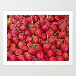 Fresh Strawberries! Art Print