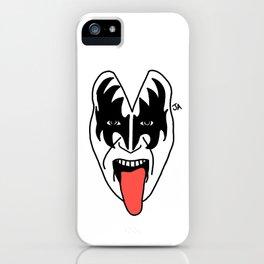 Gene Simmons of KISS Illustration iPhone Case