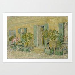 Exterior of a Restaurant in Asnières Art Print