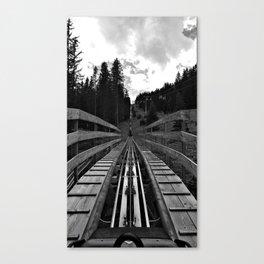 adventure park hög schneisenfeger coaster alps sfl tyrol austria europe black white Canvas Print