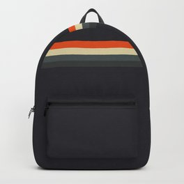 Fujitaka - Classic Dark Retro Stripes Backpack