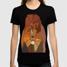 Dark Crystal Lion Black SMALL Womens Fitted Tee