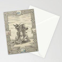 JH Schilling - Allegorie op de geboorte van de prins van Oranje, 1748 Stationery Cards