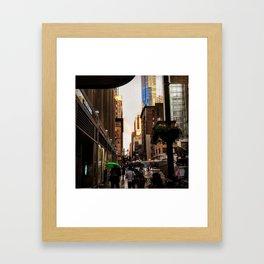 33rd Street with Rainbow Framed Art Print
