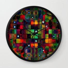 Urban Perceptions, Abstract Shapes Wall Clock