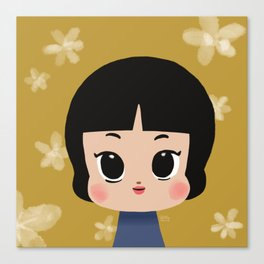 Millie, the pastel yellow Canvas Print