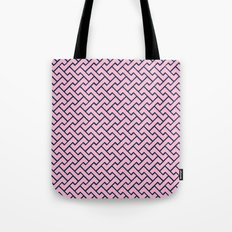 Interlocking - PINK & NAVY BLUE Tote Bag
