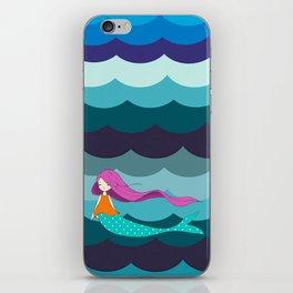 Mermaid in Blue iPhone Skin