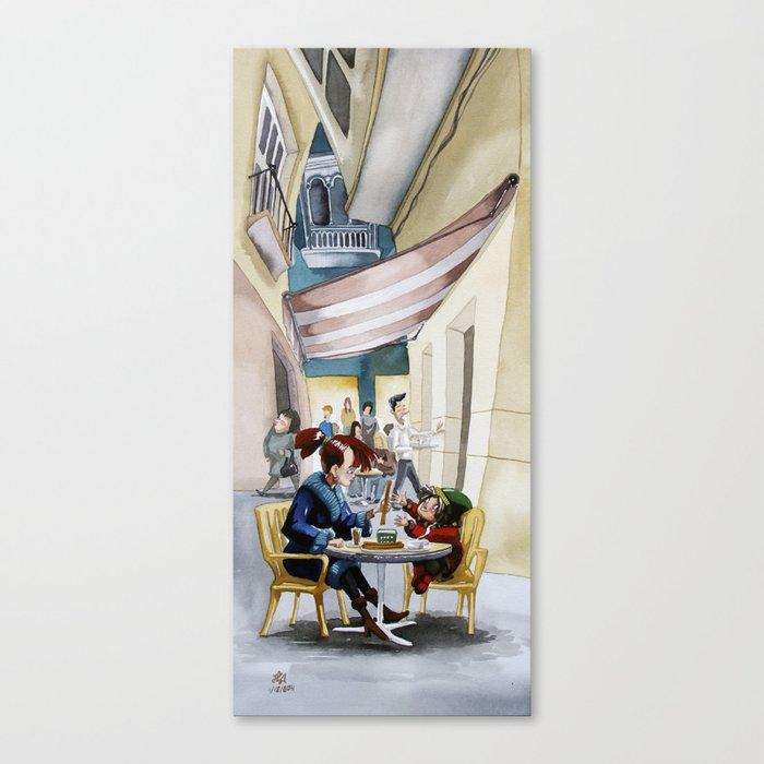 Café Canvas Print