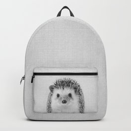Hedgehog - Black & White Backpack