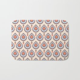 Drops Retro Blue Bath Mat
