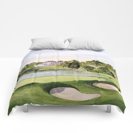 The Congressional Golf Course 10th Hole Comforters