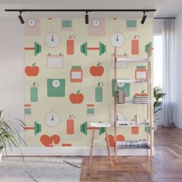 Fitness pattern Wall Mural