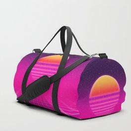Futuristic space background Duffle Bag