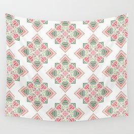 Green and pink combo pattern Wall Tapestry