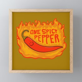 One Spicy Pepper Framed Mini Art Print