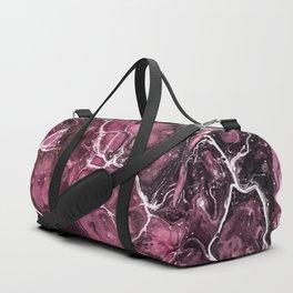 Mauve Rose Acrylic Pour Painting Duffle Bag