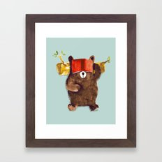 No Care Bear - My Sleepy Pet Framed Art Print