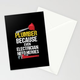 Plumber Because Electrician - Gift Stationery Cards
