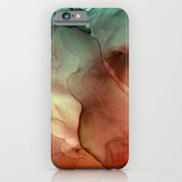 Fire and Ice Alcohol Ink Painting iPhone Case