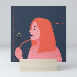 Sagittarius Zodiac Woman Mini Art Print