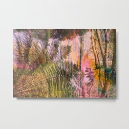 Mystical Ferns Landscape Metal Print