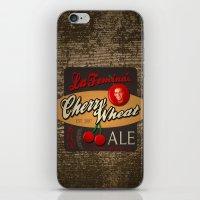 ale giorgini iPhone & iPod Skins featuring Cherry Wheat Ale by La Femina Brewing Co.