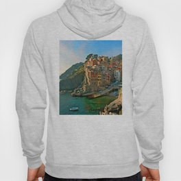 Italy. Cinque Terre - Canal side Hoody