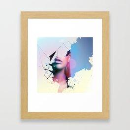 Mysterous Girl Framed Art Print