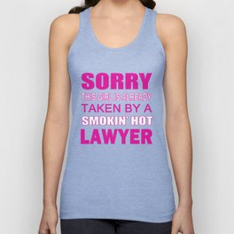 TAKEN BY A LAWYER Unisex Tank Top