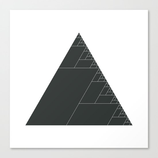 #399 Ashes of the triangle – Geometry Daily Canvas Print