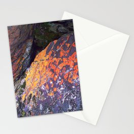 Colorful Moss on Rocks Stationery Cards