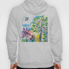 Looking out of the window, illustration for kids, fairytale painting Hoody