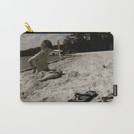 Dylan White Carry-All Pouch