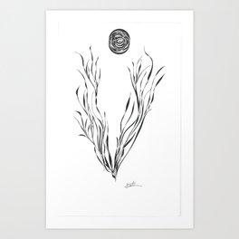 Planet of the Black Moon Art Print