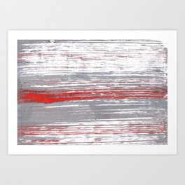 Red-gray abstract Art Print